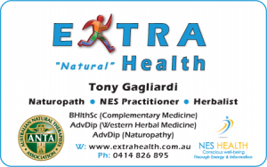 Extra Health - Naturopath Business Card